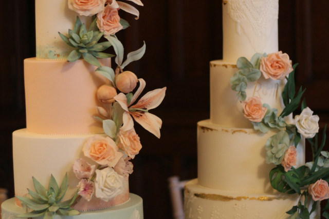 Mint and Peach Falcon Manor Wedding Fair